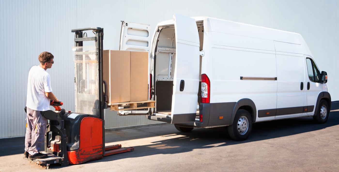 Forklift Loading Van